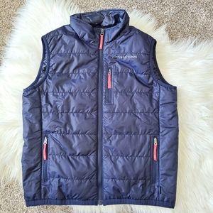 VINEYARD VINES   Navy blue girls puffer vest
